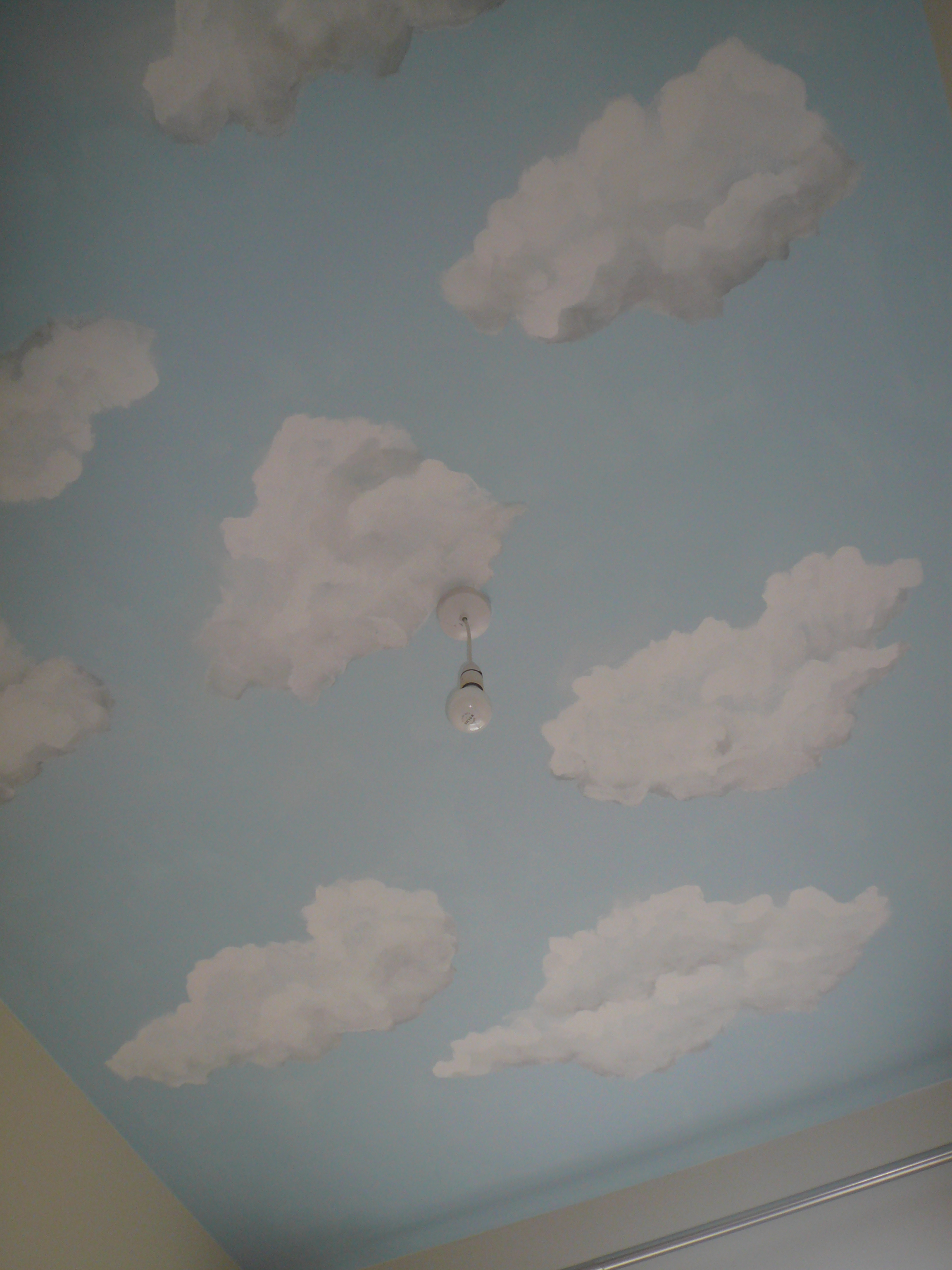 Homepage stuart montgomery commercial artist for Ceiling cloud mural